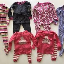 Baby Gap Pajamas Sleepwear Long Sleeve Pants Cotton Girls 12-18 Months Lot of 7 Photo