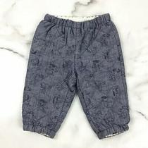 Baby Gap Peanuts 6-12m Pants Snoopy Blue Chambray Winter  Photo