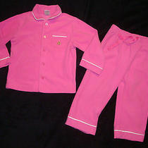 Baby Gap Pink Fleece 2 Pc Fleece Pajamas Size 2 Yrs/2t Photo