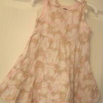 Baby Gap Pink Floral Dress Ties on Shoulders Size 12-18 Months Euc Photo