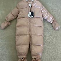 Baby Gap Pink One-Piece Snowsuit With Booties-Size-18-24 Months-New With Tags Photo