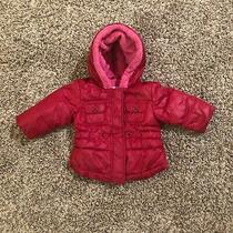 Baby Gap Pink Winter Jacket 6-12m Hood Photo