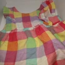 Baby Gap Plaid Ruffle Sleeve Dress 0-3 Months Photo
