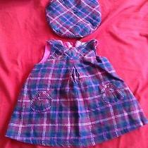 Baby Gap Plaid Vintage Dress With Berret for 0-3 Months Photo