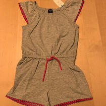 Baby Gap Play Romper Grey W/ Pink Accent 3t Short Fluttery Sleeves Nwt Photo