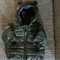 Baby Gap Primaloft Hooded Camo Puffer Jacket Size 0-6 Months Coat Photo