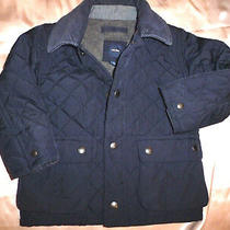 Baby Gap Quilted Navy Blue Barn Jacket Coat Size 2 Years Toddler Boys Photo