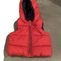 Baby Gap Red Hooded Puffer Vest Size 6-12 Months Unisex Photo