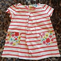 Baby Gap Red Stripe Floral Pockets  Tunic Top 3-6 Months Photo