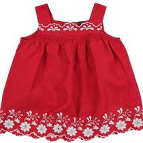 Baby Gap Red Villa Embroidered White Flower Swing Tunic Flare Top Sz 4t Eeuc Ml Photo