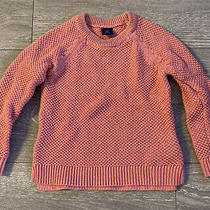 Baby Gap Salmon Knit Glitter Sweater Girls Boys Toddler 5 Ribbed Hem Warm Photo