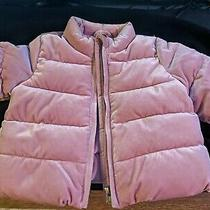 Baby Gap Shimmery Velour Winter Coat Size 0-6 Months Photo