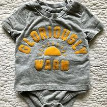 Baby Gap Short Sleeve One-Piece Outfit - Gray - Size 6-12 Months Photo
