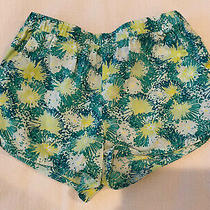 Baby Gap Shorts Size 5 Years Green and Yellow Flowers Photo