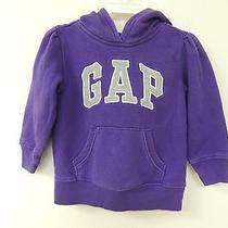 Baby Gap Size 2 Purple Hoodie Style Sweatshirt Pull Over Logo Jacket Photo