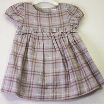 Baby Gap Size 3 to 6 Months Pretty Pink Plaid Cotton Dress & Diaper Cover 3-6m  Photo