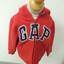 Baby Gap Size 4t Red Fleece Zip Front Hoodie Unisex Jacket  Photo