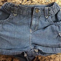 Baby Gap Size 5t Girl Shorts. Classic Denium Blue. Excellent Used Condition Photo