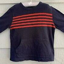 Baby Gap Size Toddler 4 Yrs. Navy W Red Stripes L Sleeve Knit Shirt - T Photo
