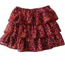 Baby Gap Skirt Girls 4 Years Ruffle Layer Skirt Pink Purple Orange Polka Dots Photo