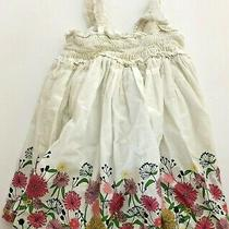 Baby Gap Smock Ivory Frost Floral Dress With Bloomers Size 18-24 Months Photo