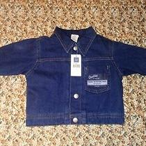 Baby Gap Snap Button Up Quilted Lined Jean Jacket. Baby Boys Size S (3-6) Months Photo