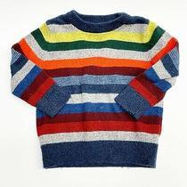 Baby Gap Striped Boys Pullover Crewneck Sweater 18-24 Months Cotton Nylon Wool Photo