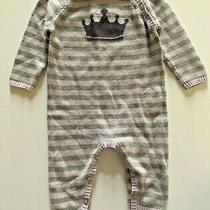 Baby Gap Striped Crown Classic Lavender Sweater One Piece Outfit Sz 6-12 Months Photo