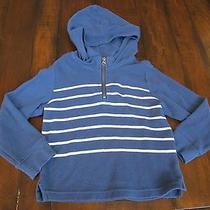 Baby Gap Striped Hooded Waffle Sweatshirt Blue 5t Never Worn Photo