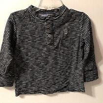 Baby Gap Striped Navy White Long Sleeve Shirt Size 18-24 Months Toddler Photo