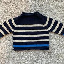 Baby Gap Striped Roll Neck Sweater Navy Sz 3-6 Mos Photo