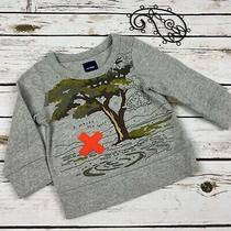 Baby Gap Sweater 12-18 Months Boys Gray X Marks the Spot Photo