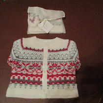 Baby Gap Sweater Hat and Booties Up to 3 Months Nwt Photo