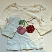 Baby Gap Sweet Sugar Girl Cherry Applique Top Size 3t Photo