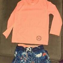 Baby Gap Swim Trunks & Rash Guard Surf Sharks Fish 3 Years Under the Sea Photo