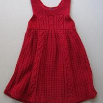 Baby Gap Sz 12-18 Mount Snow Holiday Red Jumper Sweater Dress Euc Jy-B Photo