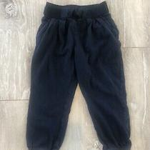 Baby Gap Sz 3 Years Toddler Girl Elastic Waist Cotton Pants Pull on 3t Navy Blue Photo