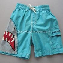Baby Gap Sz 4 4t Southwest Shark Swim Trunks Eeuc Jy-A Photo