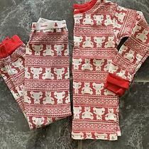Baby Gap Teddy Bear Holiday Pajamas Size 4t Red Photo