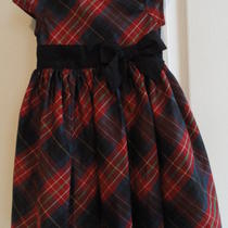 Baby Gap Toddler 2 Years Girl's Plaid Dress With Lace Under Skirt Zipper Nwot  Photo