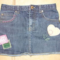 Baby Gap Toddler 2 Years Girls Denim Jean Skirt Cute Patch Look 2 T 2t  Photo