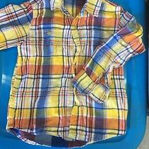 Baby Gap Toddler 5 Years Plaid Button Down Shirt Long Sleeve Blue Red Yellow Photo