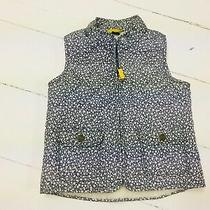 Baby Gap Toddler Baby Girls Size 3 3t Vest Outdoors Coat Floral Gray Sherpa Fall Photo