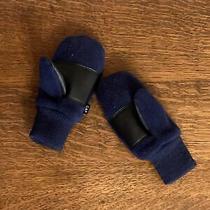 Baby Gap Toddler Boy 2-3 Yr Old Navy Blue Fleece Mitten Set M/l 13cm Gently Used Photo