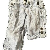 Baby Gap Toddler Boy Converible Linen Pants Blue 12-18mos Photo