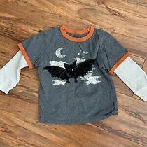 Baby Gap Toddler Boy Halloween Long-Sleeve Top Tee Shirt Felt Bat Pattern 4 Yrs Photo