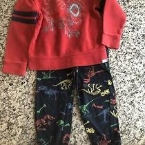 Baby Gap Toddler Boy Pajamas Lounge 4t Dinosaur Thermal Shirt Sweatpants Photo