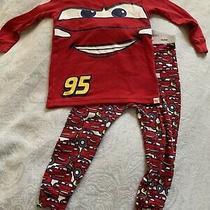 Baby Gap Toddler Boy Pjs Pajama 18-24m Disney Pixar Cars Lightning Mcqueen Red Photo