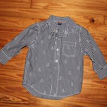 Baby Gap Toddler Boy Shirt Long Sleeve Size 18-24 Months Stripes and Skull Photo