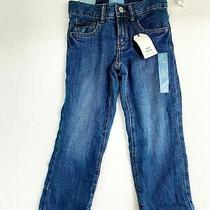 Baby Gap Toddler Boy Straight Fit Fleece Lined Jeans Medium Wash Size 5 Years Photo